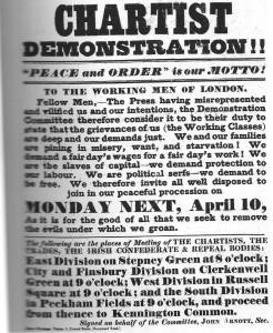 Chartist poster