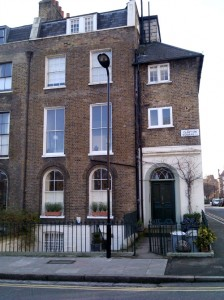 The Woolleys' former home at 19 Clapton Square