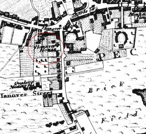 Map showing Hanover House at the south west junction of Rye Lane and Peckham High St