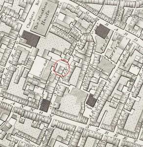 10 St Swithin's Lane, Richard Horwood map of 1799